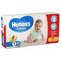 Подгузники детские Huggies Classic (4) от 7-18 кг 50шт.