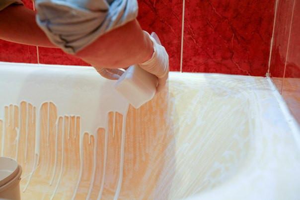 Покрытие ванны акрилом