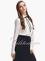 Женская блузка с рюшами Алисия молочная