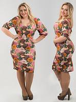 Платье женское короткое с цветочным принтом P1180, фото 1