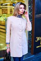 Пальто женское весеннее с узорами - Бежевый