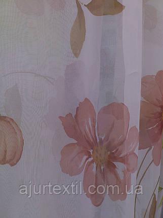 """Тюль печать """"Цветы печать"""", фото 2"""