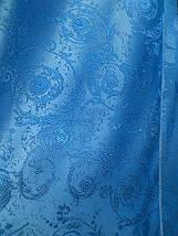"Штора ""Завиток"" сине голубая, фото 2"