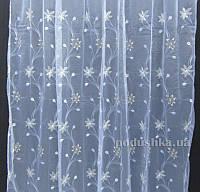 Тюль Органза Arya 25013 с вышивкой V03 K3025013 300х270 см