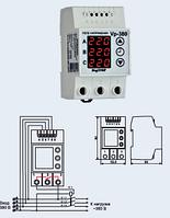 Реле контроля напряжения DigiTop Vp-380V DIN (3 фазы,  фазное)