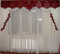 Жесткий ламбрекен Корона Бордо, 3м, фото 1