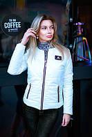 Куртка женская весенняя на синтепоне - Молочный