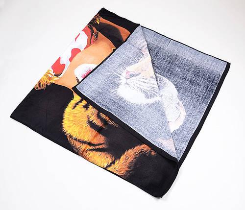 Пляжное полотенце Тигр и девушка (V1061/09)   6 шт., фото 2