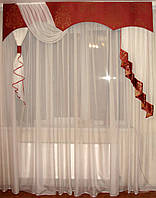 Жесткий ламбрекен Корона Терракот, 2м, фото 1