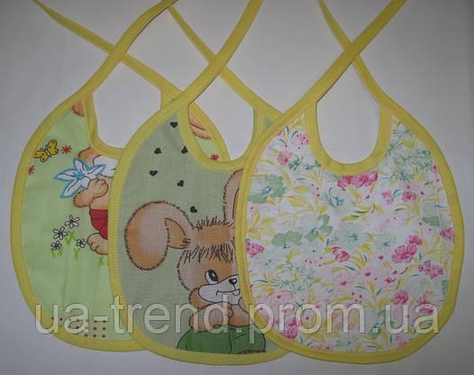 Комплект детских непромокаемых слюнявчиков 3 шт.