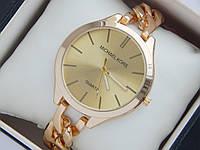 Женские (Мужские) кварцевые наручные часы Michael Kors на металлическом ремешке цепочке, фото 1