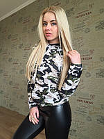 Куртка ветровка женская камуфляж - Черный