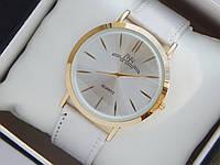 Мужские (Женские) кварцевые наручные часы Луч на кожаном ремешке. Супер тонкие!   , фото 1