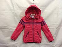 Куртка для девочки демисезонная 8-12 лет,коралловая