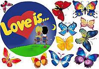 Любовь это... 14 Вафельная картинка