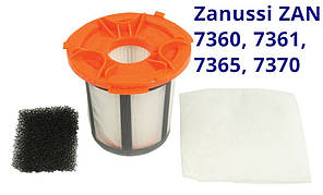 Оригинал Zanussi ZAN 7360, 7361, 7365, 7370 Нера фильтр в наборе для пылесосов с контейнером сбора пыли
