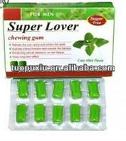 Возбуждающая жевательная резинка Супер Любовник для  сильнейшей потенции 20 капсул упаковка
