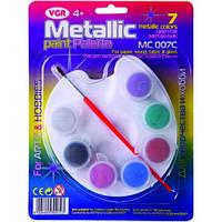 Краски акриловые VGR 7 цветов металлик