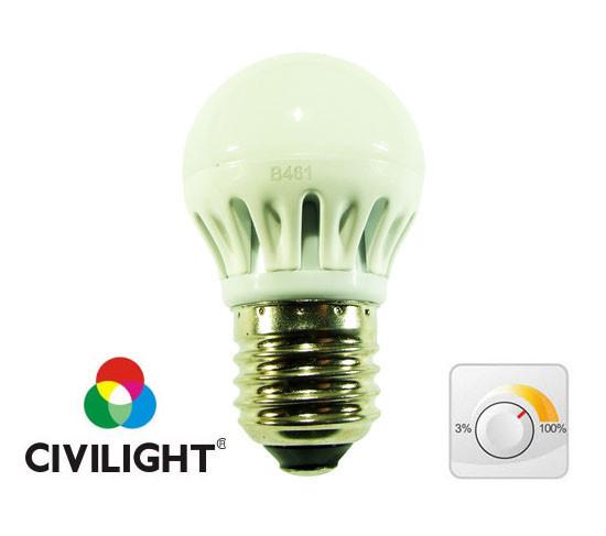 Диммируемая лампа 6W 2700К CRI97 Е27 DG45 K2F40Т6 светодиодная CIVILIGHT 7475