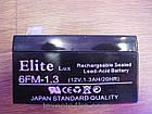 Аккумулятор Elite Lux 6FM 1.3 (12v 1.3AH/20HR)