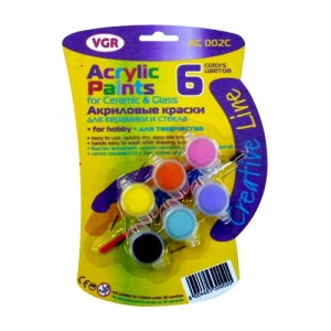 Фарби акрилові VGR 6 кольорів