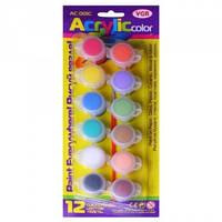 Краски акриловые VGR 12 цветов