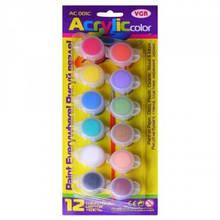 Фарби акрилові VGR 12 кольорів