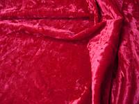 Cтрейч-бархат крэш вишневый