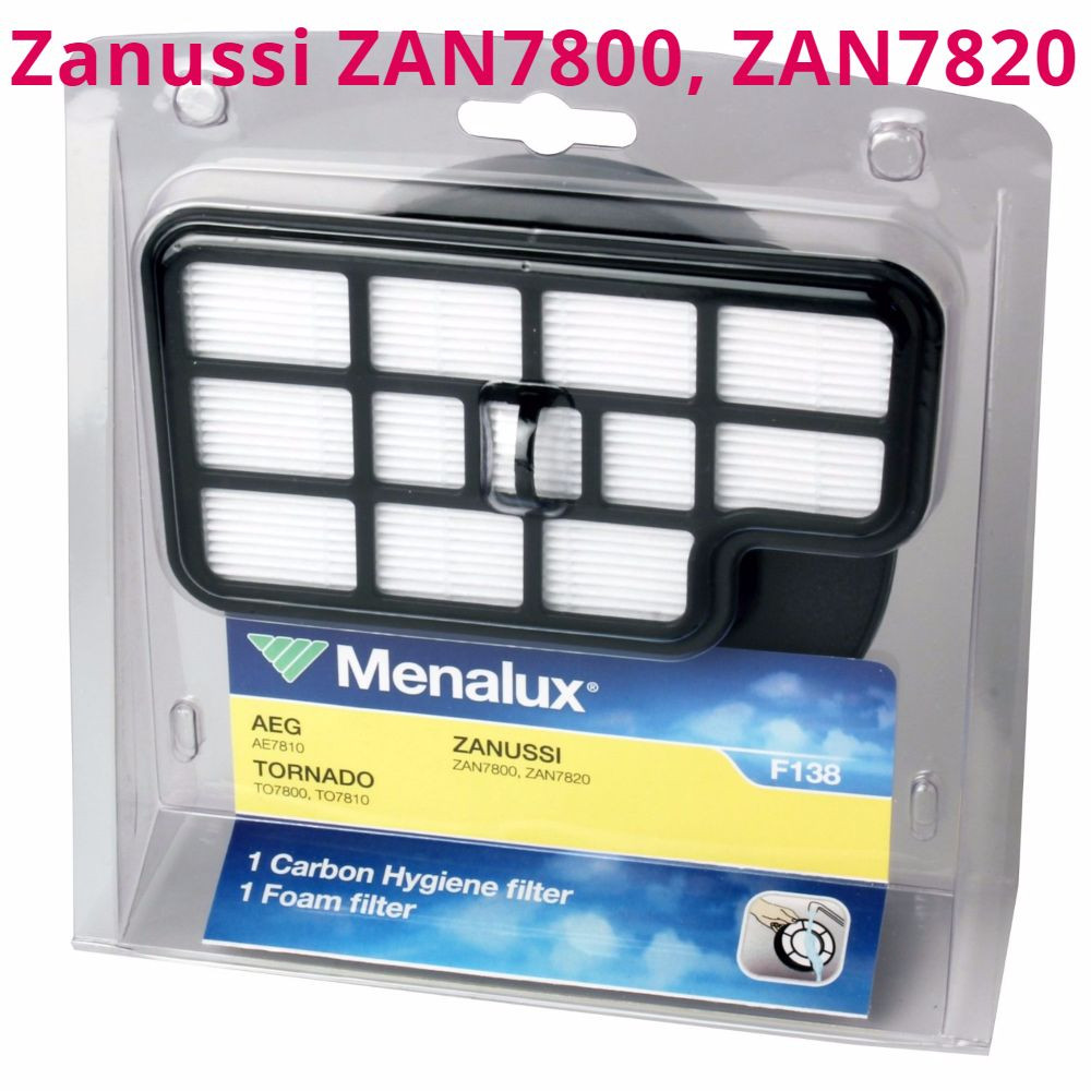 Zanussi ZAN7800, ZAN7810, ZAN7820, ZAN7830, ZAN7850 фильтр hepa Menalux F138 для циклонного пылесоса Занусси