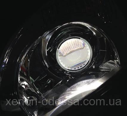 БЕЛЫЕ Дьявольские Глазки для подсветки би-линз mini H1, G5 и других / Devil Eyes for Projector Lens (WHITE), фото 2