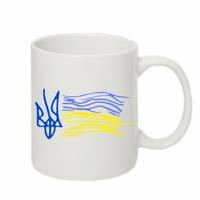 Кружка «Детский рисунок флаг Украины»