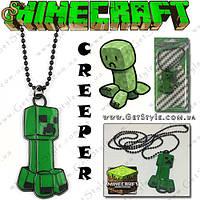 "Подвеска на шею Minecraft - ""Creeper"", фото 1"