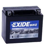 Мото аккумулятор EXIDE AGM12-10, фото 1