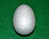 Яйцо из пенопласта для поделок 15,5 см 1493