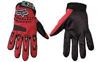 Мото перчатки , вело рукавиці, закрытые FOХ  (р-р L) , red