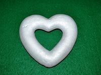 Серце з пінопласту для декору 13х12 см 1500-15