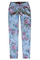 Брюки с цветочным принтом для девочки; 4, 8 лет, фото 1