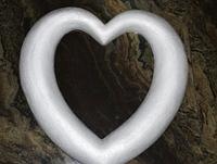 Сердце из пенопласта для декора 40х40 см 1500-16