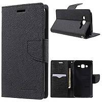 Чехол книжка Goospery  Fancy Diary для Samsung Galaxy J5 J500H / DS Black