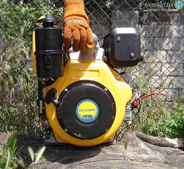 Дизельный двигатель Sadko DE-410ME (9 л.с., шлиц, электростарт)