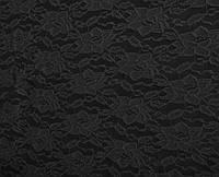 Стрейч-гипюр черный