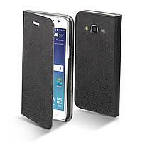 Чехол книжка Original Cover Leather Case для Samsung Galaxy J5 J500H / DS Black