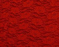 Стрейч-гипюр красный