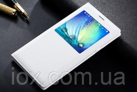 Белый чехол-книжечка для Samsung Galaxy A5, фото 1