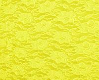 Стрейч-гипюр желтый