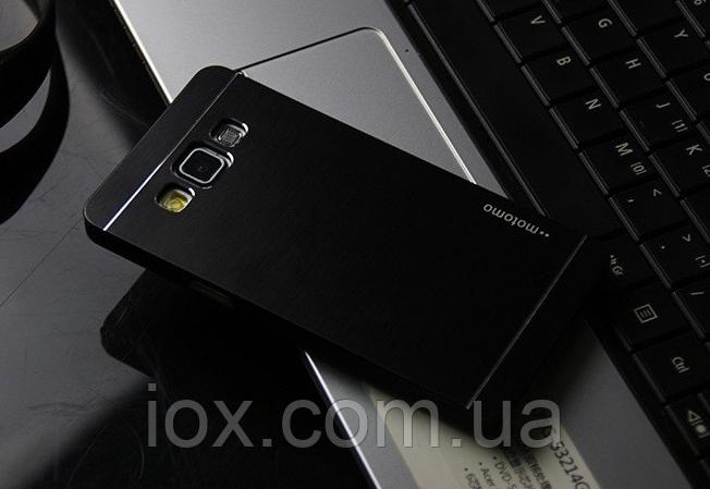 Черный металлический чехол Motomo для Samsung Galaxy A5