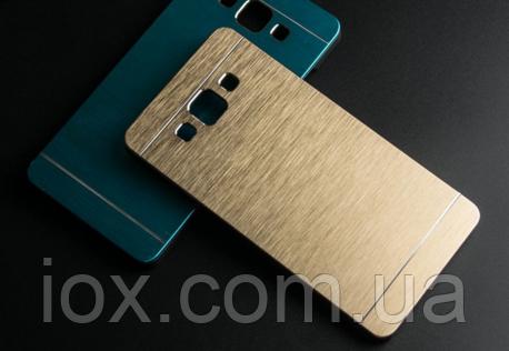 Золотой металлический чехол Motomo для Samsung Galaxy A5