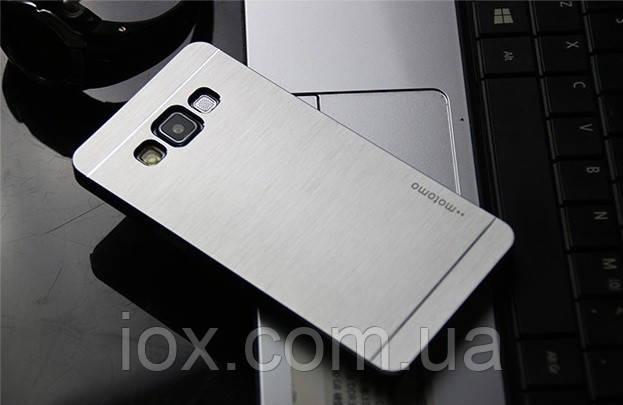 Сріблястий металевий чохол Motomo для Samsung Galaxy A5