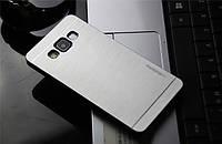Сріблястий металевий чохол Motomo для Samsung Galaxy A5, фото 1