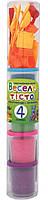 Пластилиновая паста 1 Вересня Веселое тесто 4 цвета по 150 грамм + 21 форма в пластиковой тубе